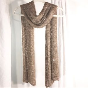Pretty Knit Scarf with Sequins